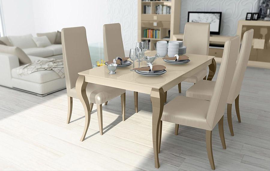 Mesa y silla de comedor MSC201 | Muebles Lara