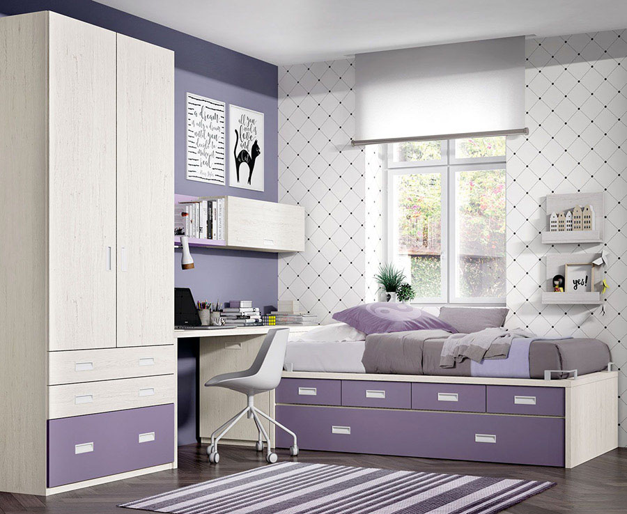 Dormitorio juvenil jdm074 muebles lara - Muebles dormitorio juvenil ...