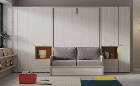 dormitorios con cama abatible juveniles